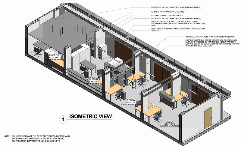 Sheet - 0610_WD_009 - ISOMETRIC with furnitures color