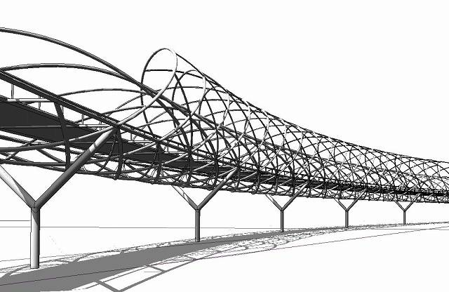Modeling helix bridge in dynamo reinier tinapay for Design bridge singapore
