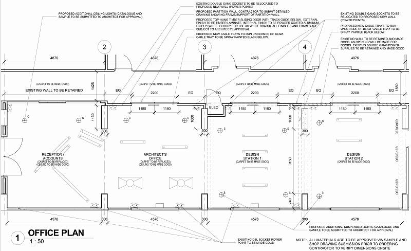Sheet - 0610_WD_002 - OFFICE PLAN