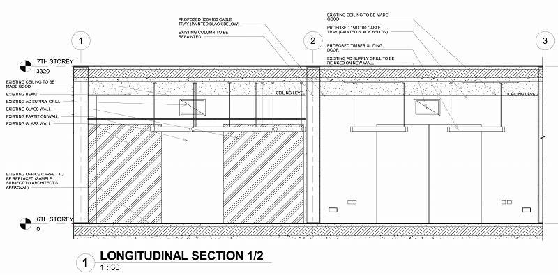 Sheet - 0610_WD_004 - LONGITUDINAL SECTION 1-2