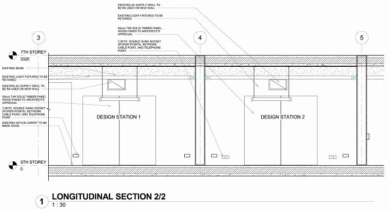 Sheet - 0610_WD_005 - LONGITUDINAL SECTION 2-2