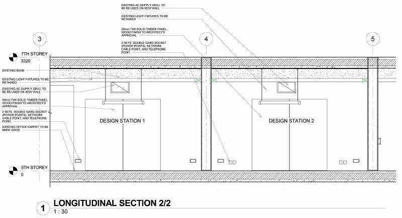 Sheet - 0610_WD_005 - LONGITUDINAL SECTION 2-2