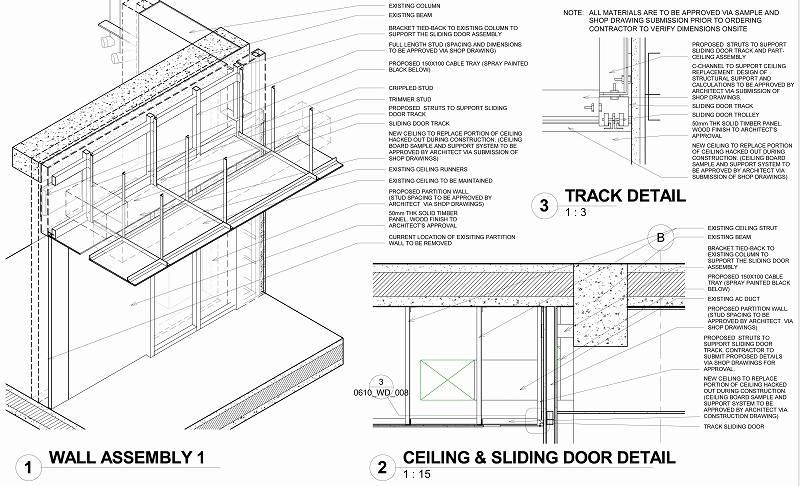 Sheet - 0610_WD_008 - DETAIL OF SLIDING DOOR