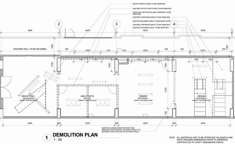 Sheet - 0610_WD_010 - DEMOLITION PLAN